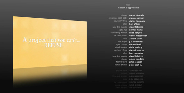 After Effects Project - VideoHive 10 Film Credits 770597