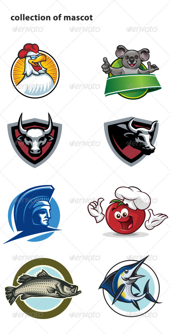 GraphicRiver Collection of mascot 770623