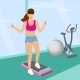 Woman Doing Aerobic Workout in the Gym - GraphicRiver Item for Sale