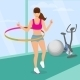 Woman Exercising with Hula Hoop in the Gym - GraphicRiver Item for Sale