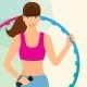 Woman Exercising with Hula Hoop - GraphicRiver Item for Sale