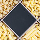 pasta assortment and blackboard for text - PhotoDune Item for Sale