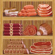 Shelves with Meat Products. - GraphicRiver Item for Sale