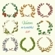 Hand Drawn Wreaths Colored Set - GraphicRiver Item for Sale