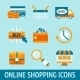 Online Shopping Icons Set - GraphicRiver Item for Sale