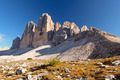 Dolomites mountain panorama in Italy at sunset - Tre Cime di Lav - PhotoDune Item for Sale