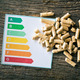 wooden pellets and energy efficiency levels - PhotoDune Item for Sale