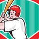 Baseball Player Batting Diamond Cartoon - GraphicRiver Item for Sale