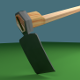 Low Poly Mattock - 3DOcean Item for Sale