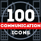 100 Communication Icons - GraphicRiver Item for Sale