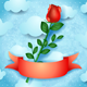 Rose on Sky Background - GraphicRiver Item for Sale