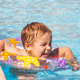 Boy Swimming With inflatable Ring - VideoHive Item for Sale