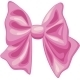 Pink Bow on White Background - GraphicRiver Item for Sale