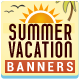 Summer Vacation Banners - GraphicRiver Item for Sale