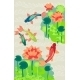 Carp and Lilly Background  - GraphicRiver Item for Sale
