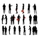 Set of Silhouette People - GraphicRiver Item for Sale