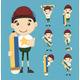 Set of Boy and Pencil - GraphicRiver Item for Sale