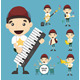 Set of Boy and Music - GraphicRiver Item for Sale