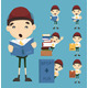 Set of Boy Learn - GraphicRiver Item for Sale
