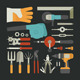 Hand Tools Icon Set - GraphicRiver Item for Sale
