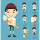 Set of Boy and Paintbrush - GraphicRiver Item for Sale
