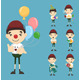 Set of Boy Birthday and Celebration - GraphicRiver Item for Sale