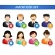 Social Avatar Icons Set - GraphicRiver Item for Sale
