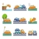 Car Crash Icons - GraphicRiver Item for Sale