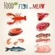 Fish and Meat Set - GraphicRiver Item for Sale