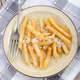 french fries with salt on a plate - PhotoDune Item for Sale