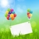 Color Glossy Balloons Birthday Card  Background - GraphicRiver Item for Sale