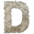 old scratched metal letter D - PhotoDune Item for Sale