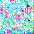 Background of right pocket on blue shirt flower pattern - PhotoDune Item for Sale