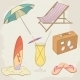 Summer Holiday Hand Drawn Icons - GraphicRiver Item for Sale