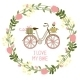 Floral Wreath with Bike - GraphicRiver Item for Sale