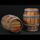 Low Poly Wooden Barrel (UV textured; Game Asset) - 3DOcean Item for Sale