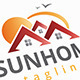 Sun Home Logo - GraphicRiver Item for Sale