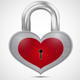Closed Metal Heart Padlock - GraphicRiver Item for Sale