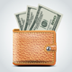 Brown Leather Wallet. Dollar USA - GraphicRiver Item for Sale