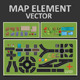 Map Elements - GraphicRiver Item for Sale