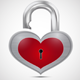 Open Metal Heart Padlock - GraphicRiver Item for Sale