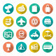 Set Flat Icons of Travel, Tourism