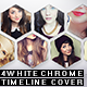 4 White Chrome timeline cover - GraphicRiver Item for Sale