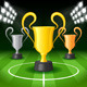 Soccer Background with Spot Lights and Trophy - GraphicRiver Item for Sale