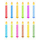 Striped Birthday Candles - GraphicRiver Item for Sale