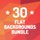 30 Flat Abstract Backgrounds Bundle - GraphicRiver Item for Sale
