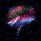 Neon Brain, Abstract Illustration - GraphicRiver Item for Sale