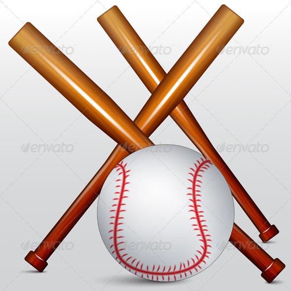 GraphicRiver Baseball Bat and Ball 7509558