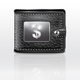 Leather Wallet with USA Dollar Sign - GraphicRiver Item for Sale