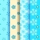 Set of 4 Forget-Me-Not Seamless Pattern - GraphicRiver Item for Sale